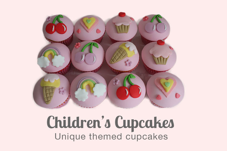 Children's birthday cupcakes